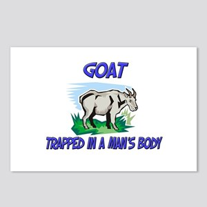 Goat Trapped In A Man's Body Postcards (Package of