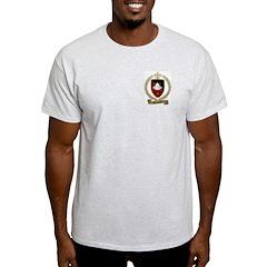 BABINEAU Family Crest Ash Grey T-Shirt