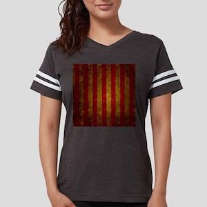 Red Gold Vertical Stripes Vintage T-Shirt