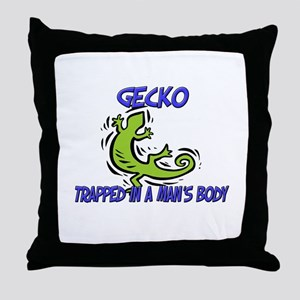 Gecko Trapped In A Man's Body Throw Pillow