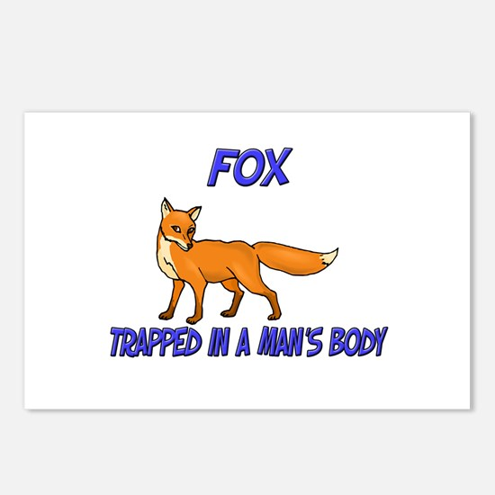 Fox Trapped In A Man's Body Postcards (Package of