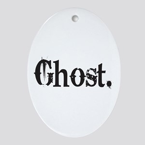 Grunge Ghost Oval Ornament
