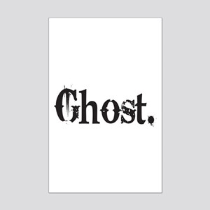 Grunge Ghost Mini Poster Print