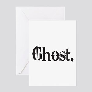 Grunge Ghost Greeting Card