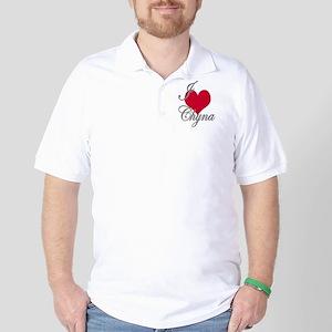I love (heart) Chyna Golf Shirt