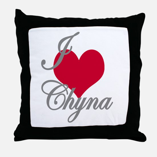 I love (heart) Chyna Throw Pillow