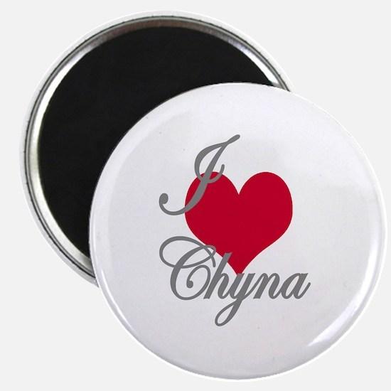 """I love (heart) Chyna 2.25"""" Magnet (10 pack)"""