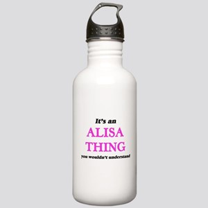 It's an Alisa thin Stainless Water Bottle 1.0L