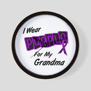 I Wear Purple 8 (Grandma) Wall Clock