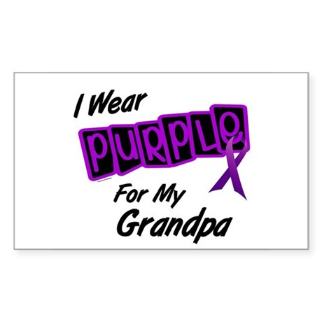 I Wear Purple 8 (Grandpa) Rectangle Sticker
