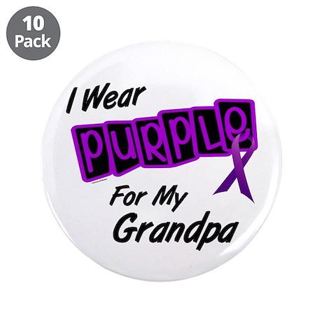 "I Wear Purple 8 (Grandpa) 3.5"" Button (10 pack)"