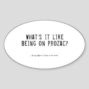 Prozac Quote Oval Sticker