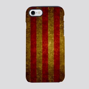 Red Gold Vertical Stripes Vi iPhone 8/7 Tough Case