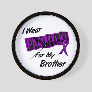 I Wear Purple 8 (Brother) Wall Clock