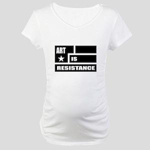 Resistance: Black Maternity T-Shirt
