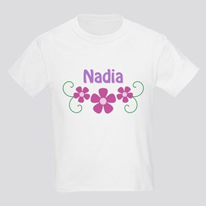 Nadia Pink Flowers Kids Light T-Shirt
