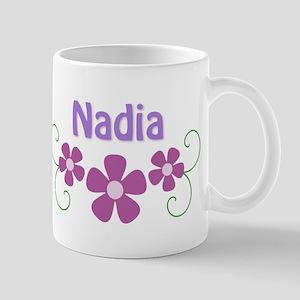 Nadia Pink Flowers Mug