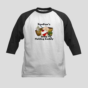 PawPaw's Fishing Buddy Kids Baseball Jersey
