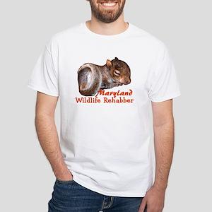 Maryland Rehab Sqrl White T-Shirt