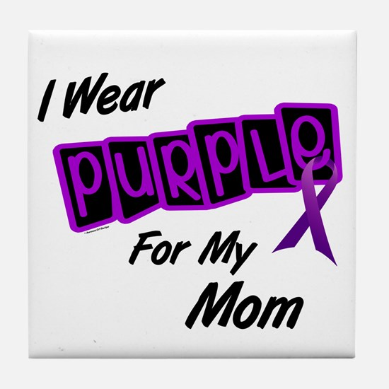 I Wear Purple 8 (Mom) Tile Coaster
