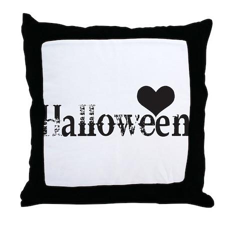 Heart Love Halloween Throw Pillow