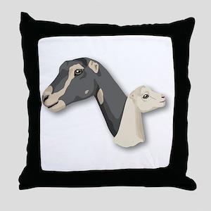 LaMancha Goat Throw Pillow