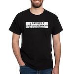 No Badges Black T-Shirt