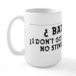 No Badges Large Mug