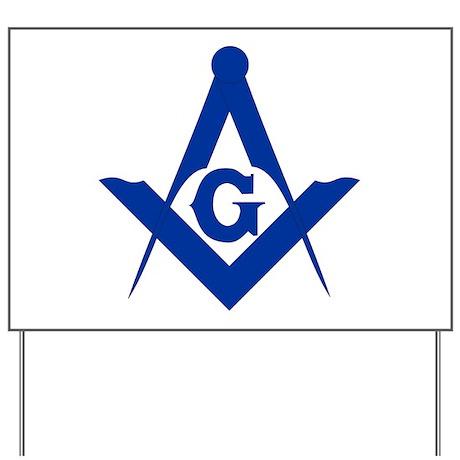 Masonic Square and Compass Yard Sign