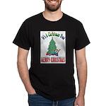 Christmas Tree Black T-Shirt