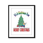 Christmas Tree Framed Panel Print