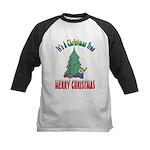 Christmas Tree Kids Baseball Jersey