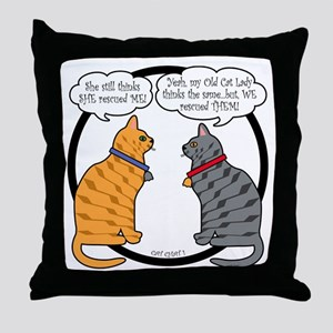 CAT CHAT 1 Throw Pillow