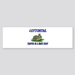 Cottontail Trapped In A Man's Body Sticker (Bumper