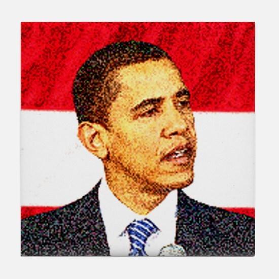 Shop Obama Tile Coaster