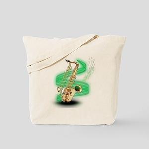 Saxophone Wrap Tote Bag