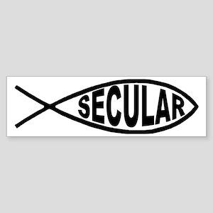 Secular Fish Bumper Sticker