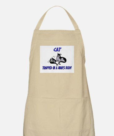 Cat Trapped In A Man's Body BBQ Apron