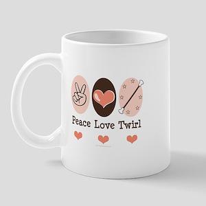 Peace Love Twirl Baton Twirling Mug