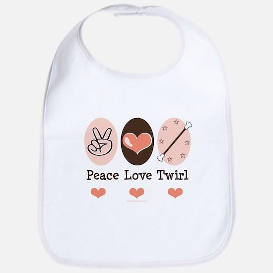 Peace Love Twirl Baton Twirling Bib