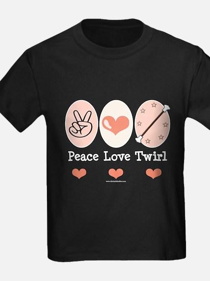 Peace Love Twirl Baton Twirling T