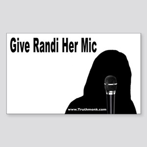 Give Randi Her Mic Rectangle Sticker