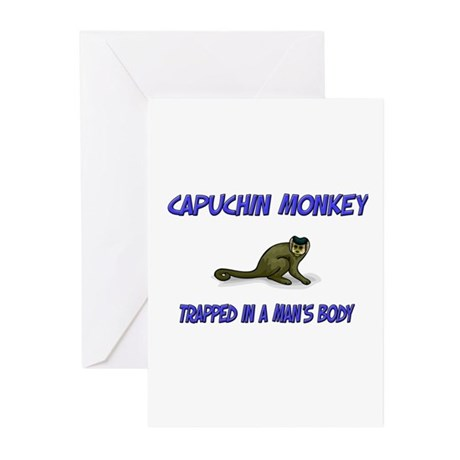 Capuchin Monkey Trapped In A Man's Body Greeting C