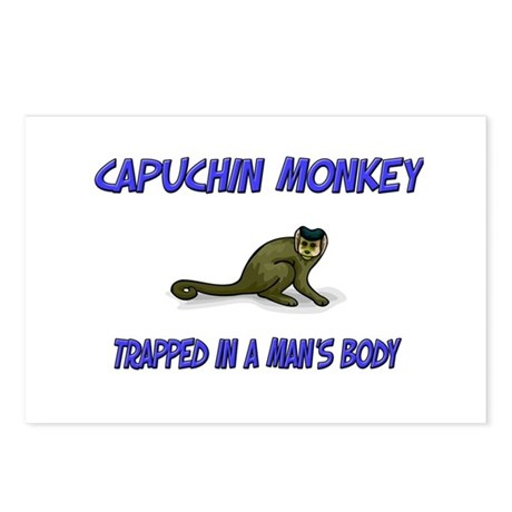 Capuchin Monkey Trapped In A Man's Body Postcards