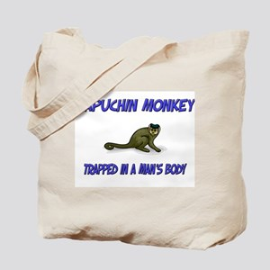 Capuchin Monkey Trapped In A Man's Body Tote Bag