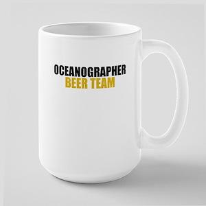 Oceanographer Beer Team Large Mug