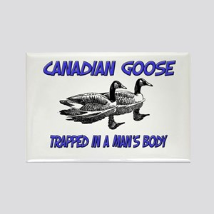 Canadian Goose Trapped In A Man's Body Rectangle M