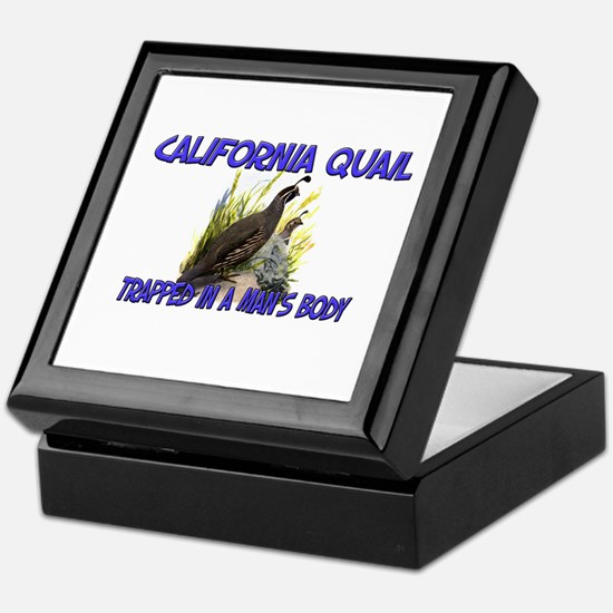 California Quail Trapped In A Man's Body Keepsake
