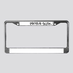 People Suck License Plate Frame