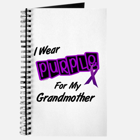 I Wear Purple For My Grandmother 8 Journal